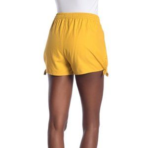 Madewell Side Tie Shorts | Size XL Yellow